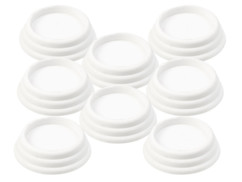 8 amortisseurs de vibrations universels, coloris blanc
