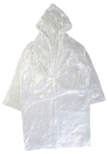 4longs manteaux de pluie à capuche, coloris transparent
