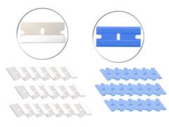 40 lames de rechange pour racloir en acier inoxydable et plastique