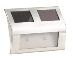 applique murale LED solaire en inox pour extérieur eclairage d'appoint lunartec