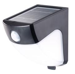 applique murale automatique avec chargeur solaire et detecteur de luminosité noir lunartec