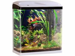 Aquarium Nano complet avec pompe, filtre et éclairage LED - 25 L