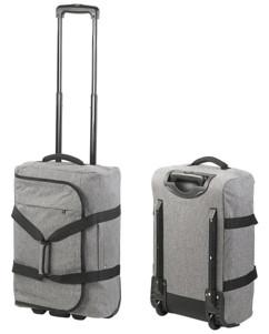 valise souple en tissu style tweed avec trolley et roulettes capacité 44l xcase