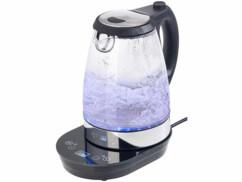 Bouilloire digitale en verre 2200 W / 1,7 L à éclairage LED - Avec thermostat