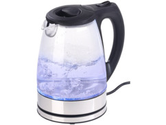 bouilloire a ebullition rapide 2200w avec eclairage led bleu rosenstein
