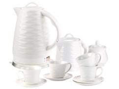 ensemble bouilloire en ceramique 1,7l avec service a café en ceramique style retro rosenstein wsk280