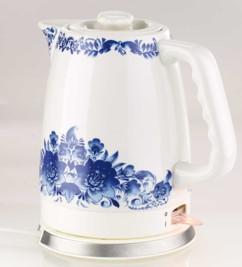 bouilloire en ceramique veritable aspect porcelaine peint main capacité 2 litres wsk-280 rosenstein