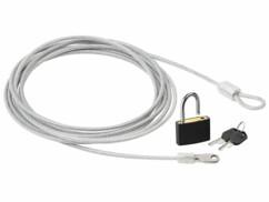 Câble en acier gainé 3 m avec cadenas