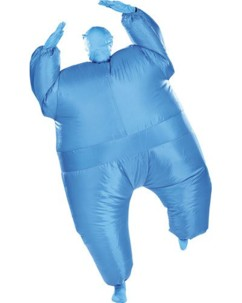 Costume gonflable monochrome - bleu