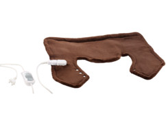coussin chauffant en polaire pour douleurs cervicales deltoides épaules 3 niveaux de chauffe wilson gabor brun chocolat