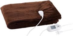 couverture chauffante avec minuterie en matiere polaire couleur brun chocolat wilson & gabor 130 x 180 cm