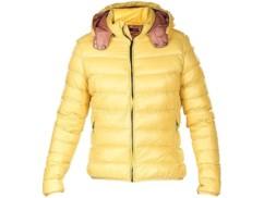 Doudoune ultralégère en duvet avec col montant et capuche - Jaune - Taille XL
