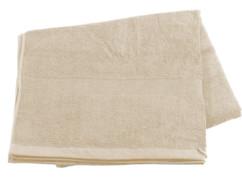 Drap de bain en coton éponge - 220 x 90 cm - Beige