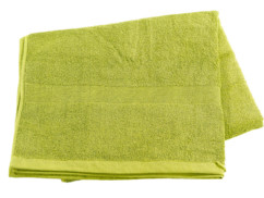 Drap de bain en coton éponge - 220 x 90 cm - Vert