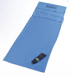 Drap pour sac de couchage ultra-fin en microfibres