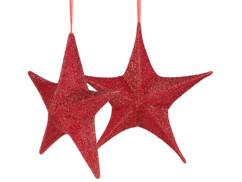 Lot de 2 étoiles de Noël pliables Ø 40 cm