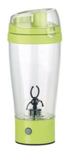 gobelet transparent en plastique sans bisphénol avec melangeur pour boissons chaudes et froides