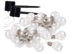 Guirlande lumineuse solaire à LED design ampoule classique - 8,5 m - x2