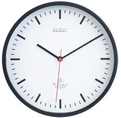 grande horloge analogique à aiguilles de gare avec aiguille secondes rouge design classique