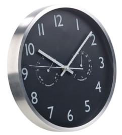 Horloge murale radio-pilotée Ø 30 cm avec thermomètre et hygromètre