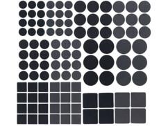Kit de patins autocollants pour meubles, coloris noir - x110