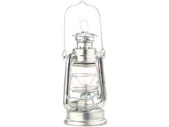 veritable lampe a petrole retro style marins avec flamme reglable et reservoir 110 ml couleur argent zinc 18 cm