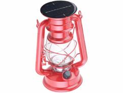Lampe-tempête solaire décorative à LED  40 lm / 1,5 W / 23 cm
