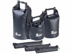 Lot de 3 sacs polochons étanches – 5/10/20 litres - noir