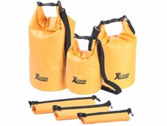 Lot de 3 sacs polochons étanches – 5/10/20 litres - orange