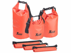 Lot de 3 sacs polochons étanches – 5/10/20 litres - rouge