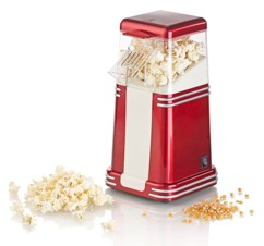 Machine à pop-corn à air chaud design rétro