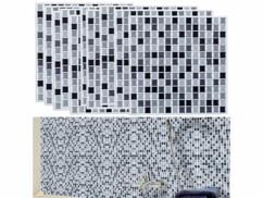 """10 mosaïques autocollantes pour carrelage """"Gris"""""""