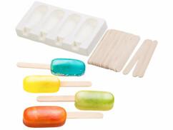 Moule en silicone 70ml et 24bâtonnets - Pour 4 glaces