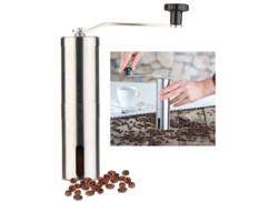 Moulin à café manuel en acier inoxydable avec broyeur en céramique