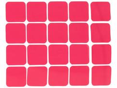 Planche de 20 patchs adhésifs double face, 25 x 25