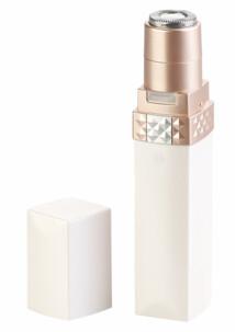 Rasoir électrique pour femme design rouge à lèvres, avec éclairage LED