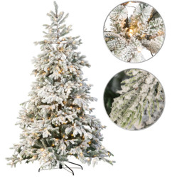 Sapin de Noël artificiel blanc 500 LED / 857 branches / 225 cm