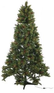 Sapin de Noël décoré & rotatif, 180cm