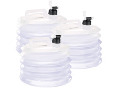 3 bidons à eau pliables pour le camping / jardinage - 15 L