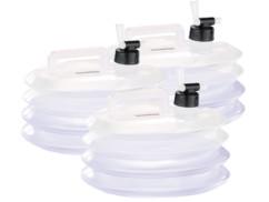 3 bidons à eau pliables pour le camping / jardinage - 5 L