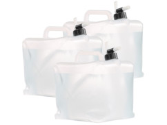 3 bidons pliables cubiques avec robinet intégré - 10 L