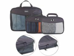 3 sacs à vêtements compressibles en 2 tailles