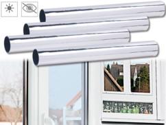 4 films de discrétion - 40 x 200 cm - Miroir Protection UV 85%