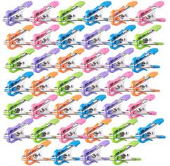 40 pinces à linge avec clips de suspension extérieurs et soft grip, 5 coloris
