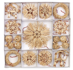 44 décorations de Noël en paille