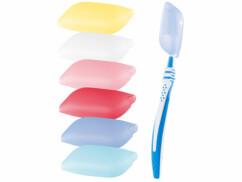 étuis en silicone pour protéger la tête des brosses à dents dans une trousse de toilette