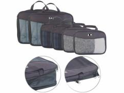 6 sacs à vêtements compressibles en 2 tailles