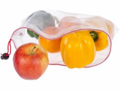 18 sachets pour fruits et légumes en matériaux recyclés