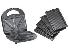 Appareil à croque-monsieur avec fonctions gaufrier et grill de table, 800 W