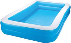 pataugeoire gonflable pour enfants 1300L 3m bleu blanc